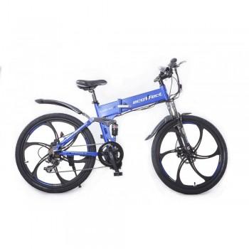 Электровелосипед Ecoffect H-Slim Middle Drive Синий